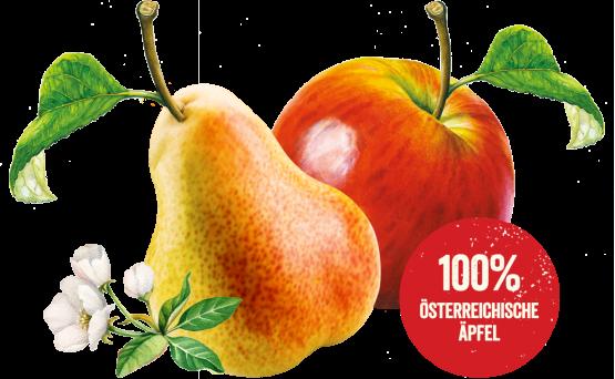 100% österreichische Äpfel